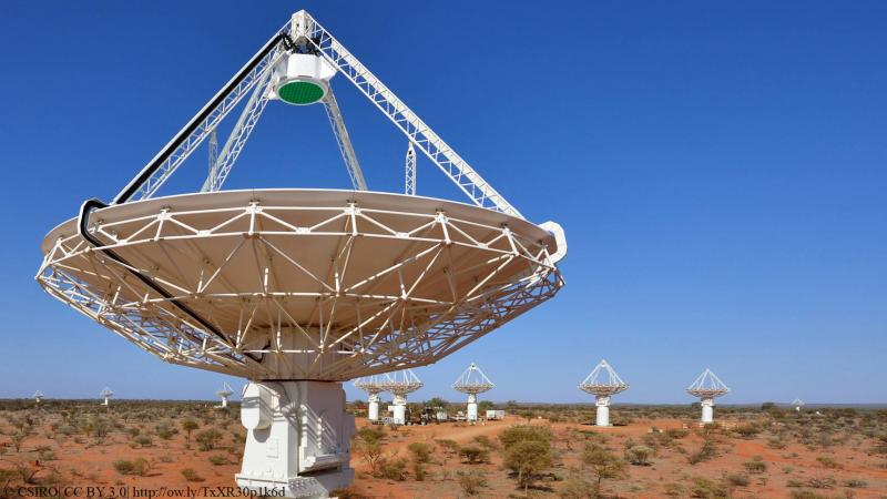 A burst of radio waves, three-billion light years away, to shed light on the 'missing matter'