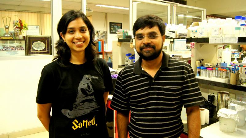 Prof. Sathees C. Raghavan (right) along with Ms. Supriya V. Vartak, Dept. of Biochemistry, IISc