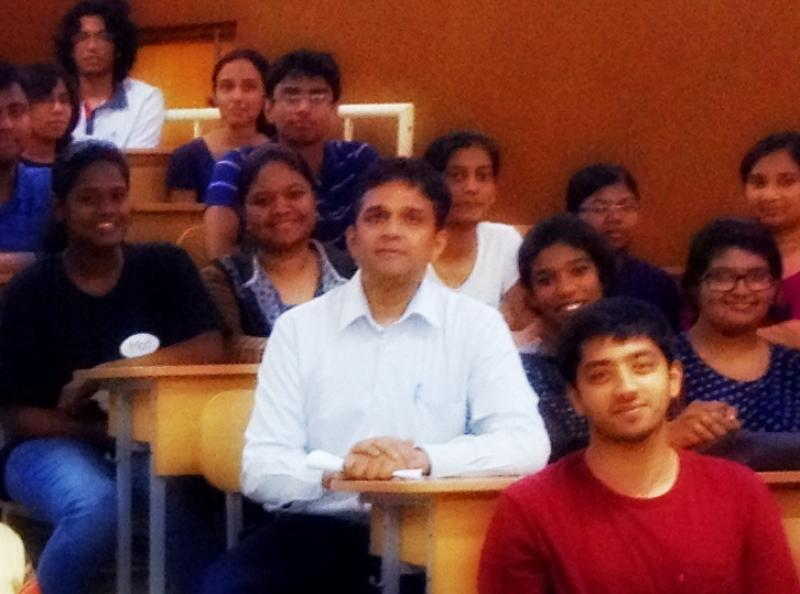 Prof. Dipankar Nandi with his students
