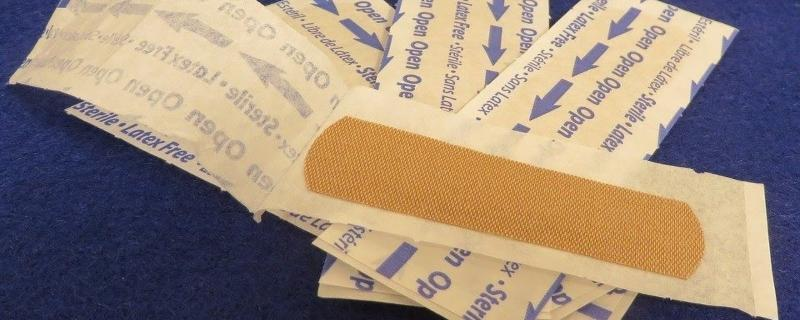 Wearable sweat sensors on a bandage